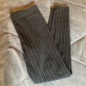 loft black and grey striped pants
